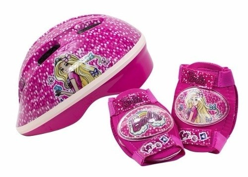 SET CASCO C/PROTECTOR UNIBIKE 501200 BARBIE
