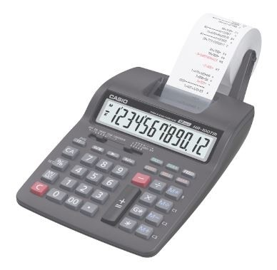 CALCULADORA IMPRESORA 12DIG 2COLORES CASIO HR100TM