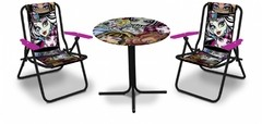 JUEGO 2 SILLAS Y MESA PLAYERA UNIBIKE MONSTER HIGH - comprar online