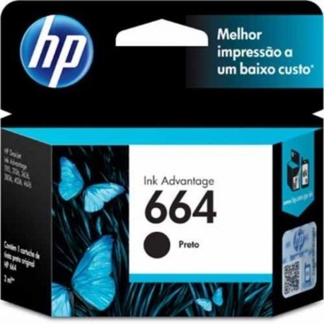 Cartucho 664 Negro Original HP (F6V29AL)