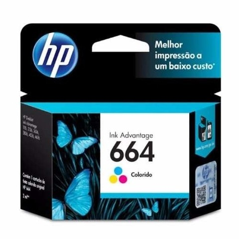 Cartucho 664 Color Original HP (F6V28AL) - comprar online