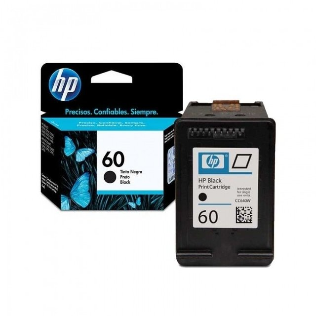 Cartucho 60 Negro HP Original - HP 60 Black Ink Cartridge - Prints approximately 200 pages  - CC640WL