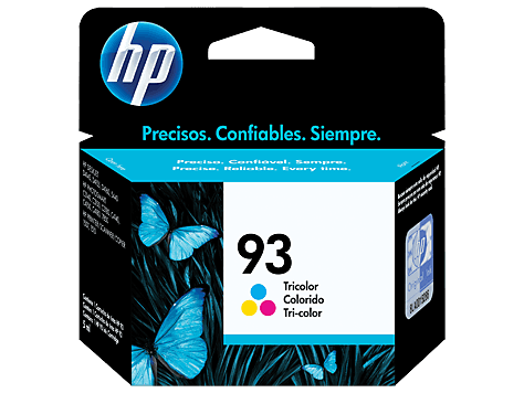 Cartucho 93 Color Original HP - HP 93 Tricolor Inkjet Cartridge - 7ml 175 color graphics pages   - C9361WL