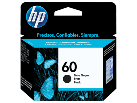Cartucho 60 Negro HP Original - HP 60 Black Ink Cartridge - Prints approximately 200 pages  - CC640WL - comprar online