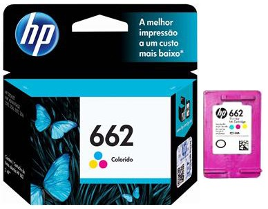 Cartucho 662 Color Original HP - HP 662 TRI-COLOR INK CARTRIDGE - CZ104AL