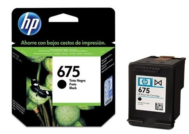 Cartucho 675 Negro Original HP / CN690AL / HP 675 Black INK CARTRIDGE
