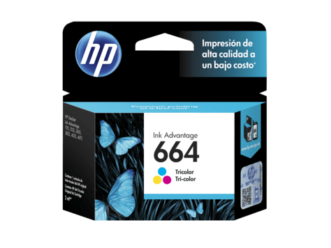 Cartucho Color Original Hp 664 Tinta 2135 3635 4535 F6v28al - comprar online