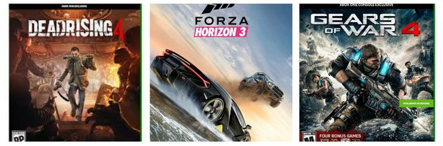 Pack de 3 Juegos Xbox One Dead Rising 4 Forza Horizon 3 Gears of War 4
