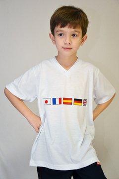 camiseta manga curta do centro de línguas E.E Antonio Padilha