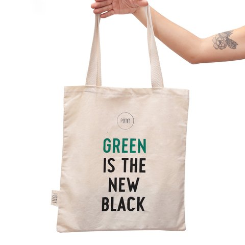 Tote bag Green is the new black