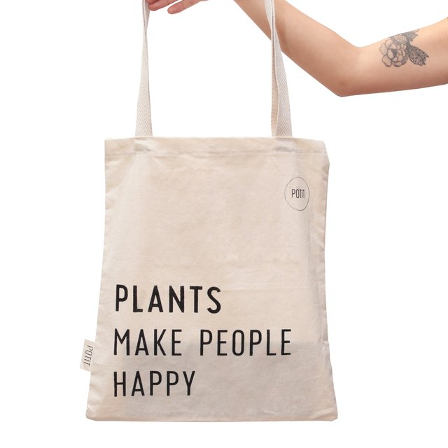 Tote bag Plants Make People Happy