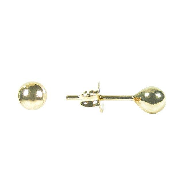 Brinco bolinha 4 mm banho ouro cabe6a6345