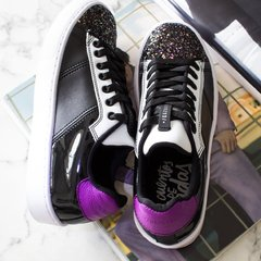 """Dark Glitter Ride"" Romanos (Low Top) Shoes"