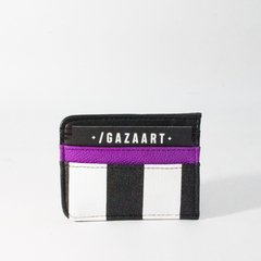 Purple and stripes card holder