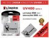 KINGSTON SSDNOW UV400 SUV400S3B7A/240G 240GB SATA III LEITURAS: 550MB/S E GRAVAÇÕES: 350MB/S