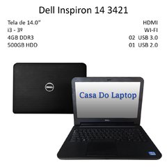 Laptop Dell Inspiron 3421 i3 4GB 500 GB Disco rígido