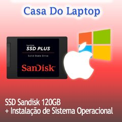 Kit de Upgrade 120 GB SSD Sandisk SATA + Sistema Windows
