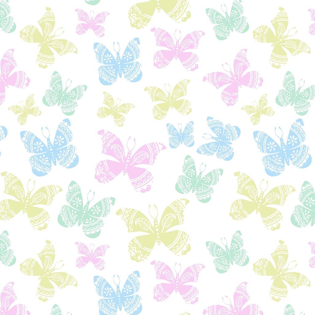 Papel de parede para quarto infantil borboletas yazzic for Papel decomural infantil