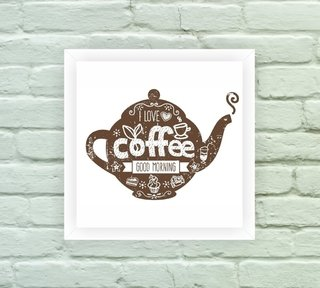 Quadro Decorativo Coffee Bule na internet