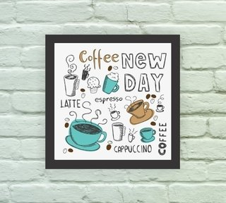 Quadro Decorativo Coffee New Day na internet