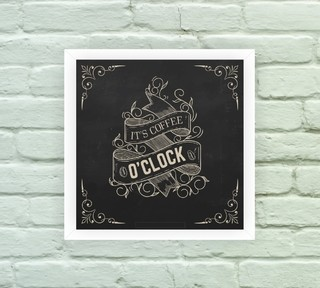 Quadro Decorativo Coffee O´clock - comprar online