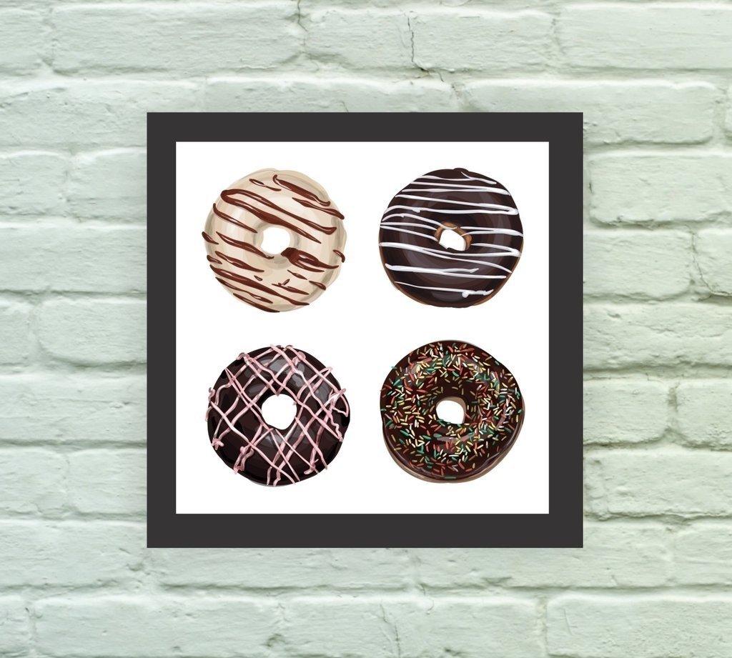 2d20d0b9f Quadro Decorativo Donuts 01 - Comprar em Arte e Cores
