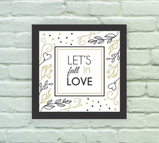 Quadro Decorativo Fall in Love - comprar online