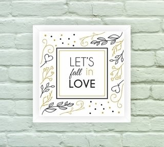 Quadro Decorativo Fall in Love na internet