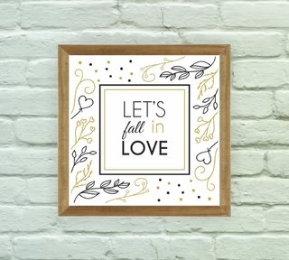 Quadro Decorativo Fall in Love - Arte e Cores