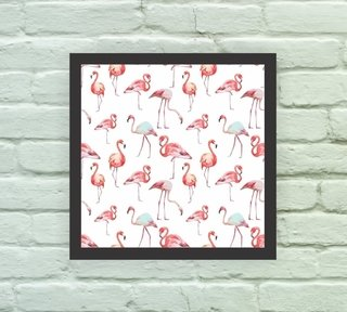 Quadro Decorativo Flamingos na internet