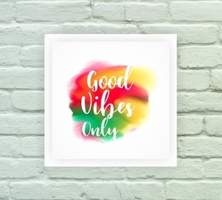 Quadro Decorativo Good Vibes Only 1 na internet