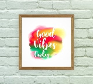 Quadro Decorativo Good Vibes Only 1 - Arte e Cores