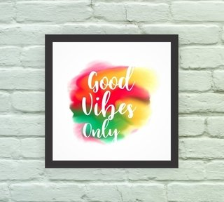 Quadro Decorativo Good Vibes Only 1 - comprar online