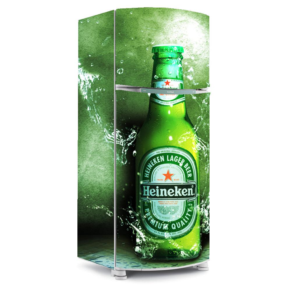 Adesivo De Natal Para Vidro ~ adesivo para envelopamento de geladeira cerveja heineken