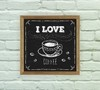 Quadro Decorativo Love Coffee Blackboard na internet