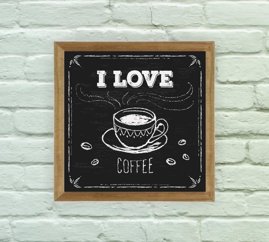 201f4e9c6 Quadro Decorativo I Love Coffee - comprar online ...