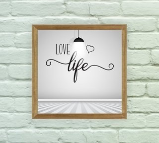 Quadro Decorativo Love Life na internet