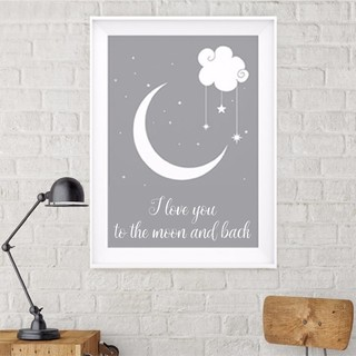 Quadro Decorativo Love you to the moon 02 - comprar online