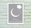 Quadro Decorativo Love you to the moon 02 na internet