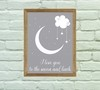 Quadro Decorativo Love you to the moon 02 - Arte e Cores