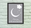 Quadro Decorativo Love you to the moon 02 - loja online