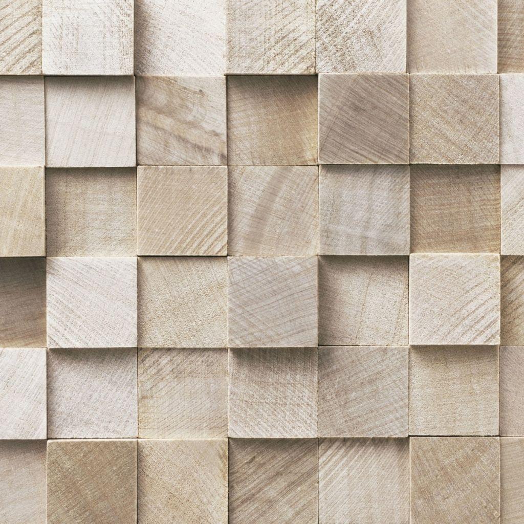 Papel de parede adesivo mosaico de madeira arte e cores for Papel de pared rustico