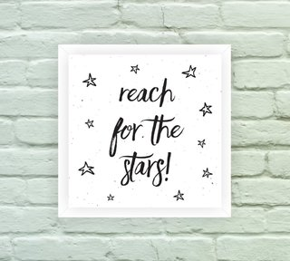 Quadro Decorativo Reach for the Stars - Arte e Cores