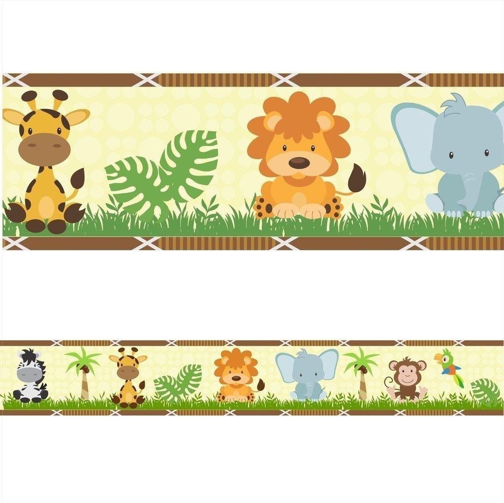Faixa Decorativa Infantil Zoo Safari Arte E Cores