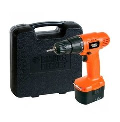 Taladro Inalámbrico CD121K Black + Decker + Cargador + Punta Phillips + Maletín