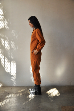 Cotton worker jumpsuit - Julieta Grana