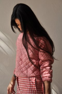 QUILTED GINGHAM SWEATSHIRT - online store