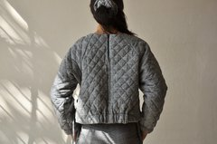 Image of QUILTED GINGHAM SWEATSHIRT