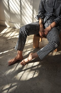 COTTON GINGHAM PANTS - buy online