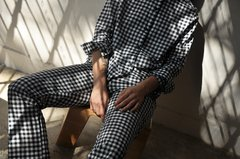 COTTON GINGHAM PANTS on internet